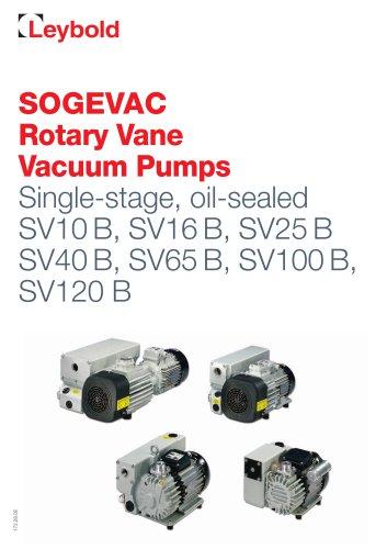 SOGEVAC Rotary Vane  Vacuum Pumps