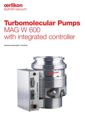Turbomolecular Pumps MAG W 600