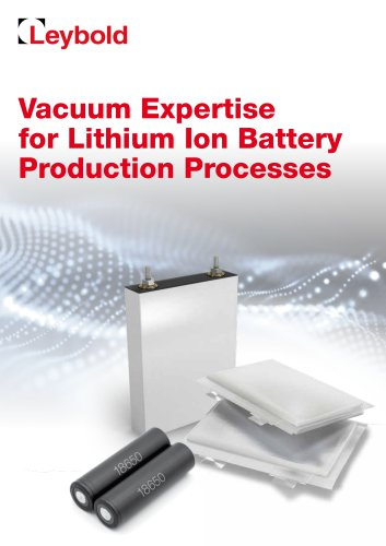 Vacuum Expertise for Lithium Ion Battery Production Processes