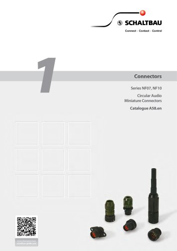 Connectors for audio technology, NF07 and NF10 series