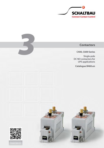 DC contactors for UPS applications C400, C600