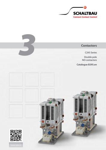 Double pole NO contactor C295