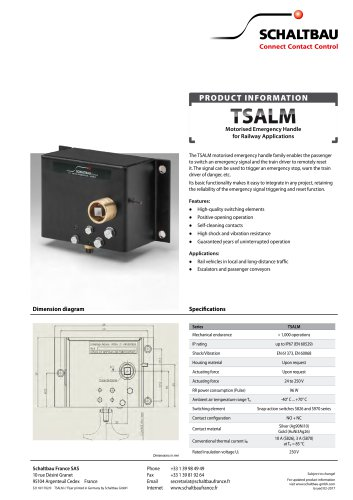 Flyer Motorised emergency brake handle, TSALM series