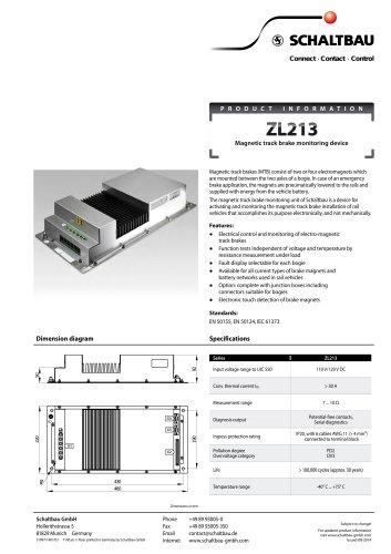 Magnetic track brake monitoring unit ZL213
