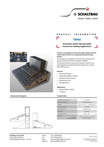Pneumatic and/or spring loaded footrest
