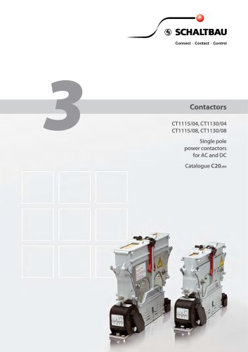 Power contactors for AC and DC