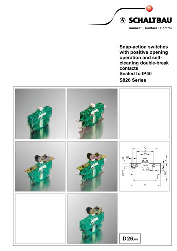 S826 Snap-action switches