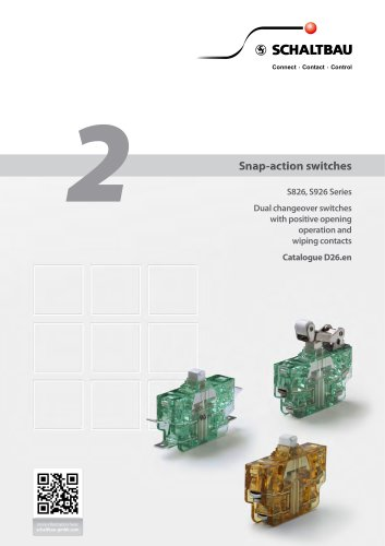 Snap-action switches S826