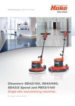 Cleanserv/Single-disc and polishing mashines