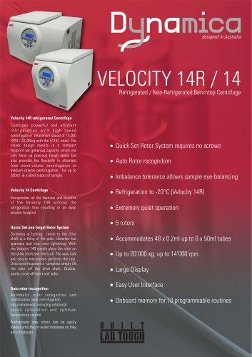 Centifuge Velocity 14 / 14 R
