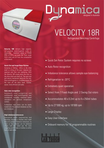 Centrifuge Velocity 18R