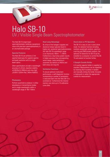 Hallo SB-10 Single Beam Spectrophotometer