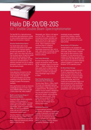 HALO DB-20 UV-VIS Double Beam Spectrophotometer