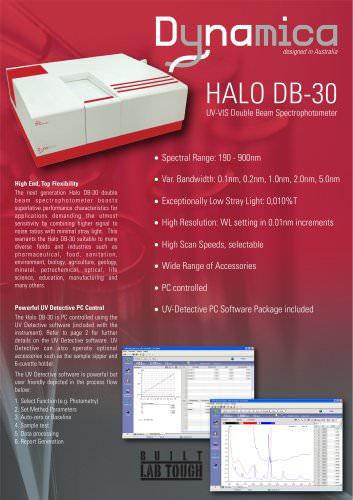 HALO DB-30 UV-VIS Double Beam Spectrophotometer