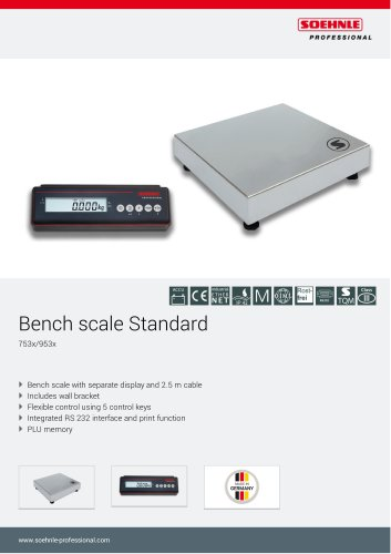 Bench scale Standard