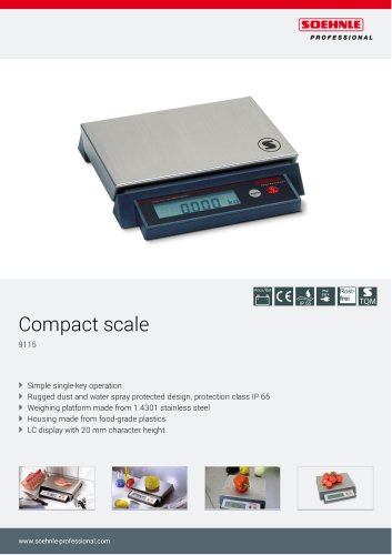 Compact scale 9115_ 9241