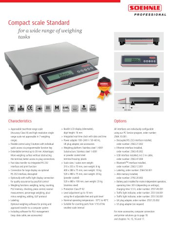 Compact scale Standard