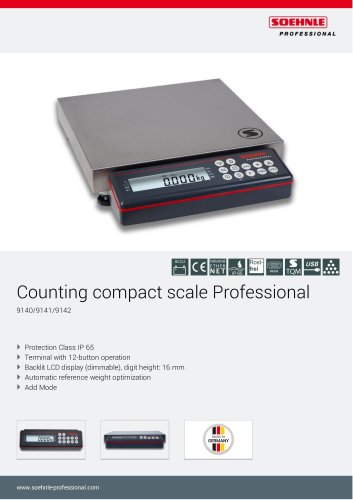 Counting compact scales Professional 9140, 9141, 9142 _ Counting bench scales Professional 9540, 9541, 9542
