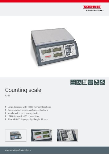 Counting scale 9221