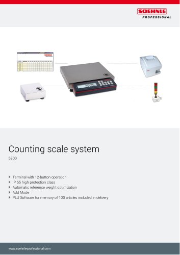 Counting scale system 5800_ 5802