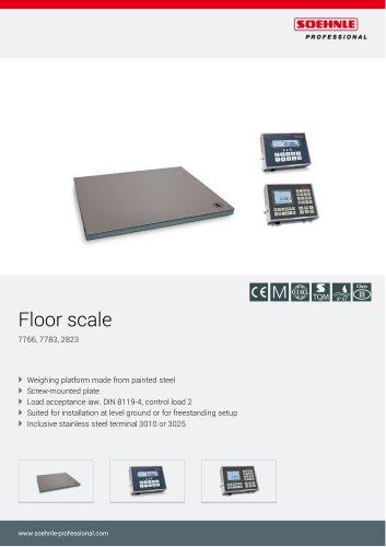 Floor scale 7766*, 2823