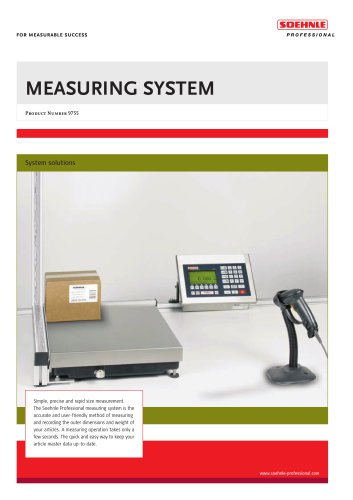 MEASURING SYSTEM Product Number 9755