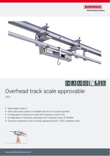Overhead track scale 2922