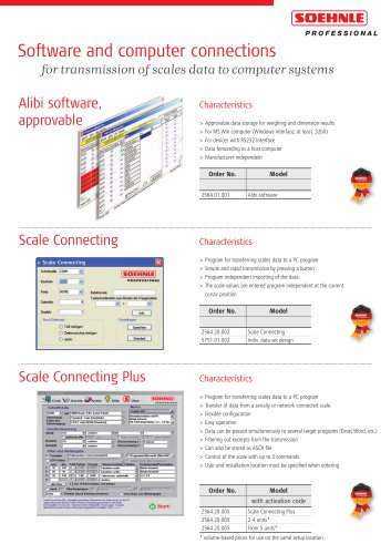 Software and computer connections