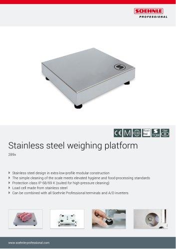 Stainless steel weighing platforms