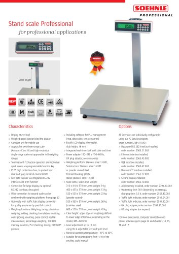 Stand scale Professional