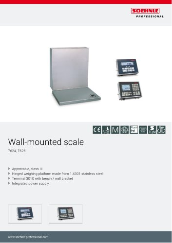 Wall-mounted scale 7624_ 7625