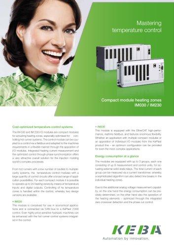 Compact module heating zones IM030 / IM230