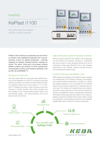 KePlast i1100 - Top performance for hydraulic injection molding machines
