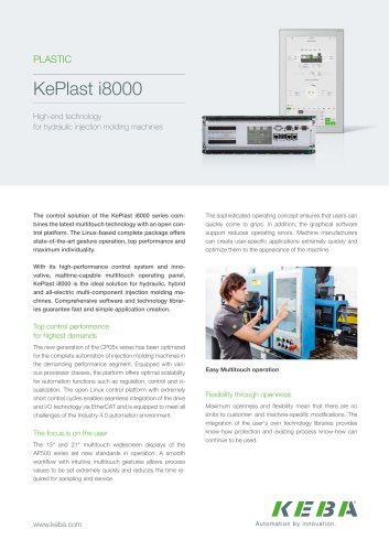 KePlast i8000 - High-end technology  for hydraulic injection molding machines