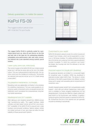 KePol FS-09 - the rugged outdoor parcel locker