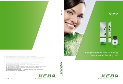 Product catalog KeDrive
