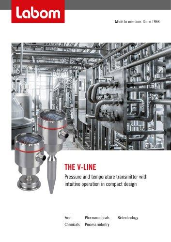 Professional pressure and temperature transmitter V-Line