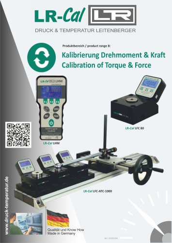 Calibration of Torque & Force