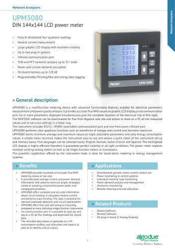 UPM3080 - DIN 144x144 LCD power meter