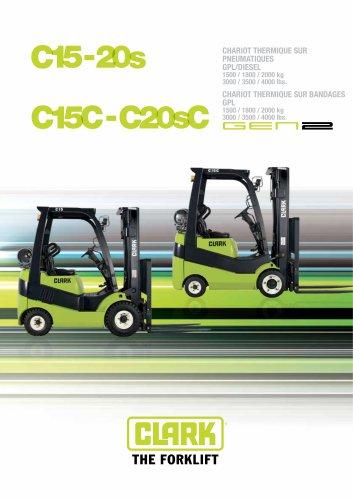 Carrello elevatore con trazione diesel o GPL C15-20s