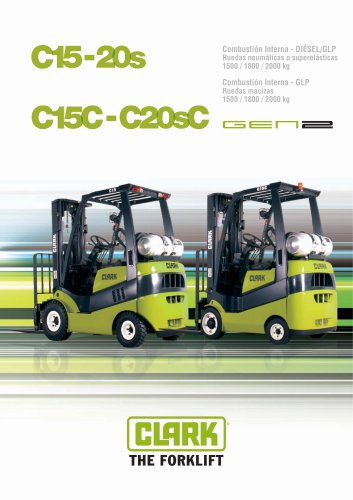 Carretillas elevadoras frontales compactas impulsadas por GLP C15-20sC