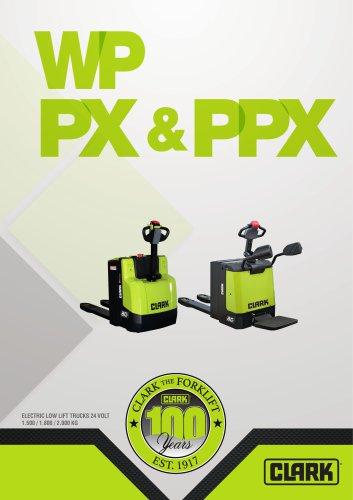 Electric pallet trucks (WPio12, WP15, WPX18, WPX20, PPXS20, PX20)