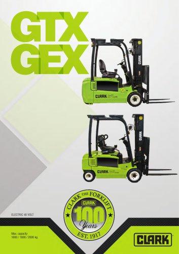 Electric three-wheel forklift GTX GEX 16-20s