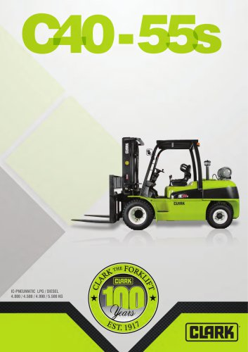 Forklift with diesel or LPG drive C40-55s