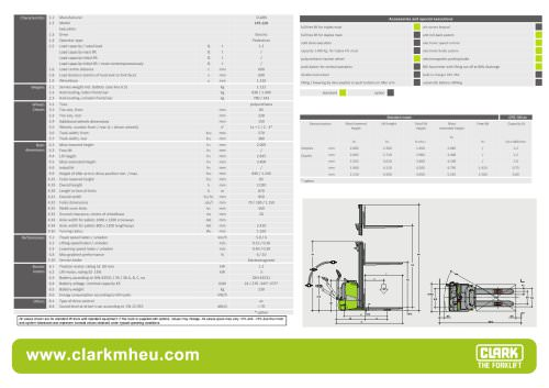 Specification sheet CLARK C PS 12H