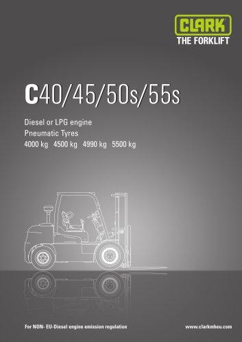 Specification sheet CLARK C40/45/50s/55s NON EU