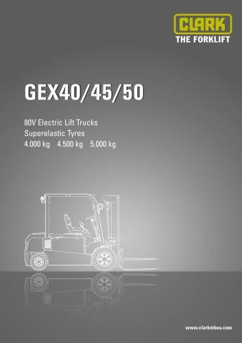 Specification sheet CLARK GEX40/45/50