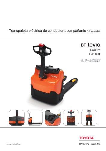 BT Levio Serie W - Transpaleta eléctrica de conductor acompañante 1,6 toneladas