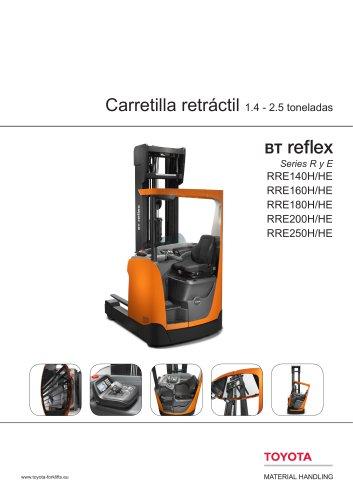 BT Reflex Series R y E - Carretilla retráctil 1.4 - 2.5 toneladas