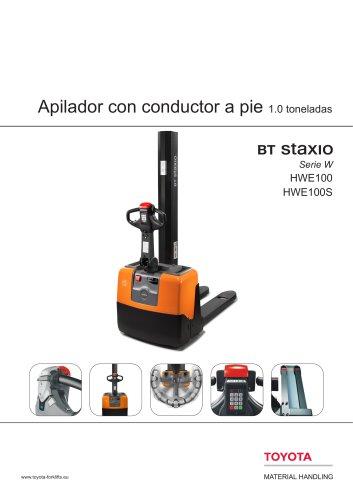 BT Staxio Serie W - Apilador con conductor a pie 1.0 toneladas
